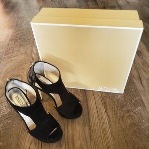 Michael Kors open toe stilettos, size 6